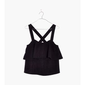 Madewell Texture & Thread Black Tiered Tank Top S